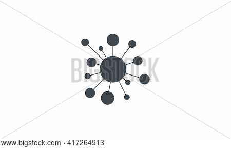 Network Connection Hub Icon. Vector Illustration. Isolated White Background.
