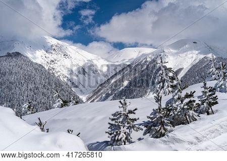 View The Caucasus Mountains Of The Ski Resort Krasnaya Polyana, Sochi, Russia