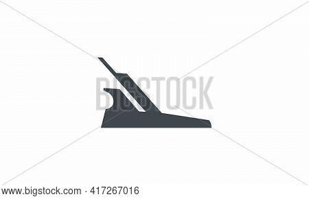 Jack Plane Icon. Isolated On White Background.