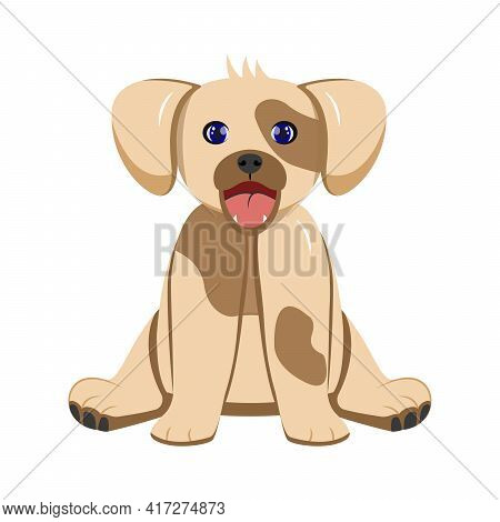 Brown Charming Cute Happy Puppy Sitting Toy