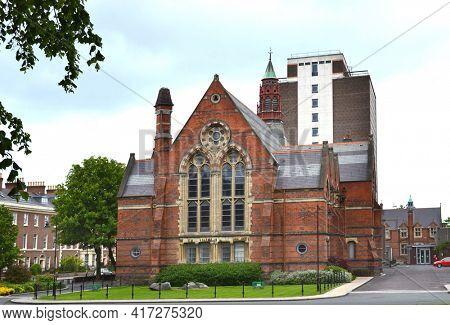 BELFAST, NORTHERN IRELAND - MAY 21, 2011: Queens University. The university was chartered in 1845, and opened in 1849 as Queen's College, Belfast.