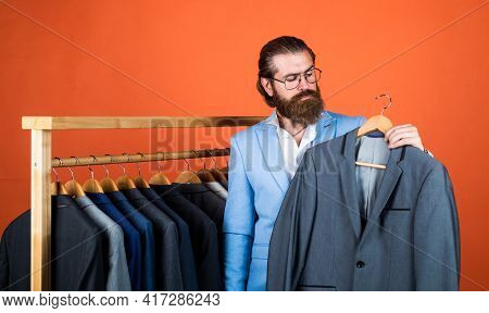 Perfect Male. Male Wardrobe Concept. Brutal Handsome Man With Moustache. Mature Bride Groom On Weddi