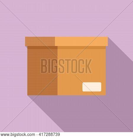 Documents Carton Box Icon. Flat Illustration Of Documents Carton Box Vector Icon For Web Design