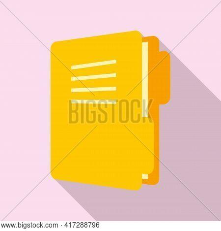 Classic Folder Doc Icon. Flat Illustration Of Classic Folder Doc Vector Icon For Web Design