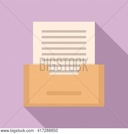 Paper Archive Icon. Flat Illustration Of Paper Archive Vector Icon For Web Design