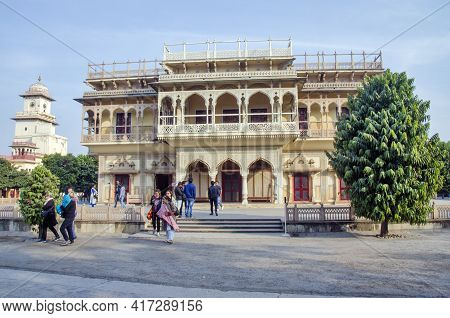 Jaipur Rajasthan India On January 14th 2017:the City Palace, Jaipur Was Established At The Same Time
