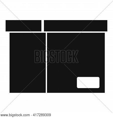Documents Carton Box Icon. Simple Illustration Of Documents Carton Box Vector Icon For Web Design Is