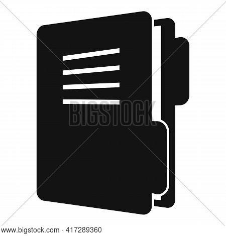 Classic Folder Doc Icon. Simple Illustration Of Classic Folder Doc Vector Icon For Web Design Isolat