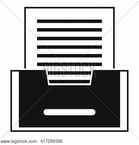 Paper Archive Icon. Simple Illustration Of Paper Archive Vector Icon For Web Design Isolated On Whit
