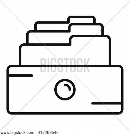 Copy Storage Documents Icon. Outline Copy Storage Documents Vector Icon For Web Design Isolated On W