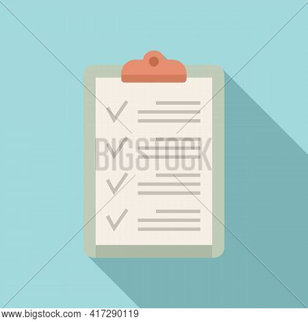 To-do List Clipboard Icon. Flat Illustration Of To-do List Clipboard Vector Icon For Web Design