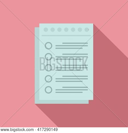 To-do List Paper Icon. Flat Illustration Of To-do List Paper Vector Icon For Web Design