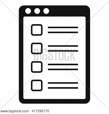 To-do List Note Icon. Simple Illustration Of To-do List Note Vector Icon For Web Design Isolated On