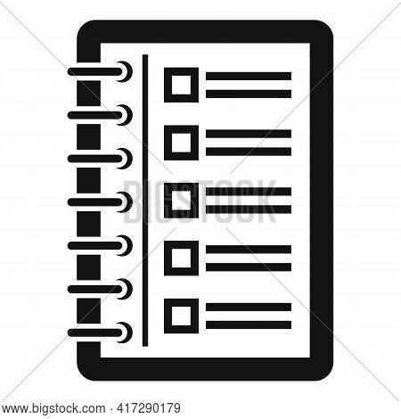To-do List Sheet Icon. Simple Illustration Of To-do List Sheet Vector Icon For Web Design Isolated O