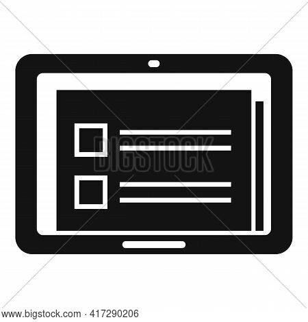 To-do List Tablet Icon. Simple Illustration Of To-do List Tablet Vector Icon For Web Design Isolated