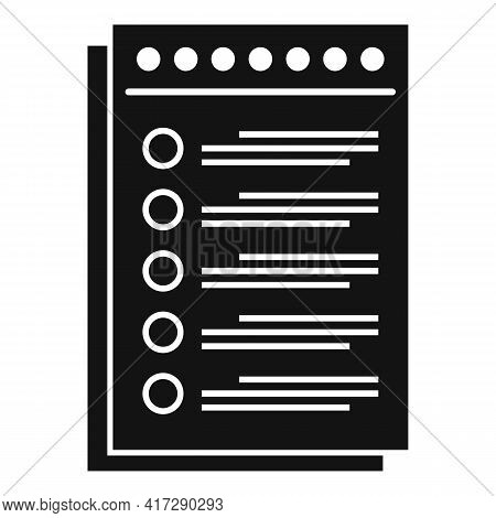 To-do List Paper Icon. Simple Illustration Of To-do List Paper Vector Icon For Web Design Isolated O