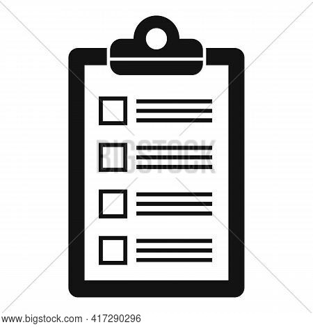 To-do List Agenda Icon. Simple Illustration Of To-do List Agenda Vector Icon For Web Design Isolated