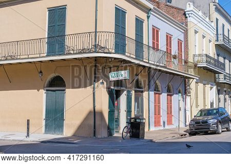 New Orleans, La - January 15: Famous Verti Marte Deli And Grocery In French Quarter On January 15, 2