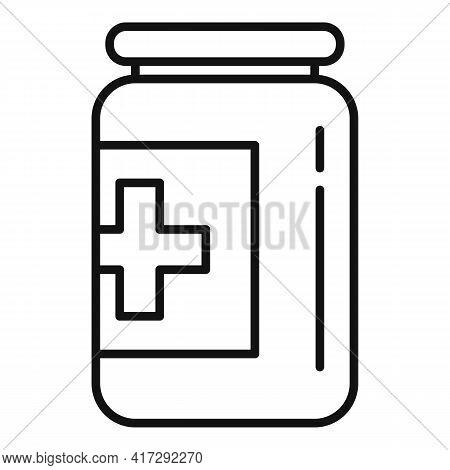 Medicine Bottle Icon. Outline Medicine Bottle Vector Icon For Web Design Isolated On White Backgroun