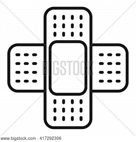 Adhesive Plaster Icon. Outline Adhesive Plaster Vector Icon For Web Design Isolated On White Backgro
