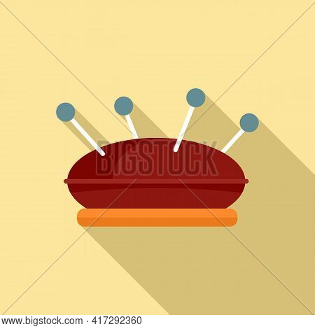 Sewing Pillow Icon. Flat Illustration Of Sewing Pillow Vector Icon For Web Design