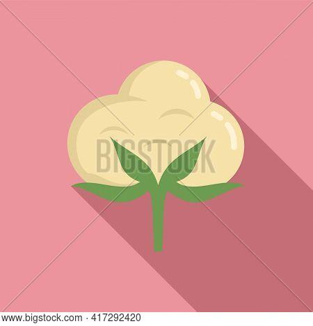 Cotton Plant Icon. Flat Illustration Of Cotton Plant Vector Icon For Web Design
