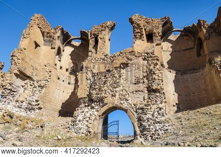Ruins Of Gates Of Medieval City Ani, Near Kars, Turkey. Founded In 5 Century As Armenian City. Aboun