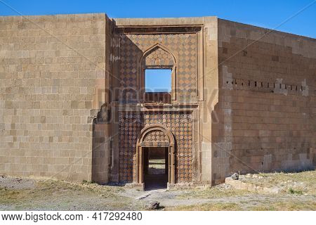 Restored Remains Of Seljuk Palace In Medieval City Ani, Near Kars, Turkey. Palace Built In 12 Centur