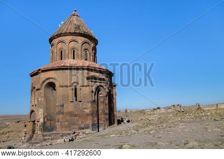 Armenian Apostolic Church Of St Gregory Of The Abughamrents Family In Medieval City Ani, Near Kars,