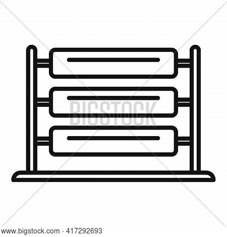 Wool Thread Production Icon. Outline Wool Thread Production Vector Icon For Web Design Isolated On W
