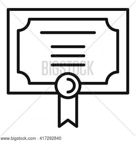 Inclusive Diploma Icon. Outline Inclusive Diploma Vector Icon For Web Design Isolated On White Backg