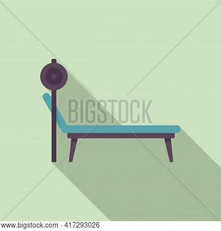 Gym Bench Icon. Flat Illustration Of Gym Bench Vector Icon For Web Design