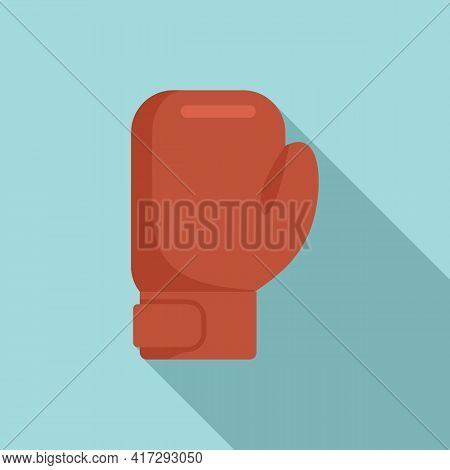 Boxing Glove Icon. Flat Illustration Of Boxing Glove Vector Icon For Web Design