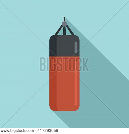 Punch Bag Icon. Flat Illustration Of Punch Bag Vector Icon For Web Design