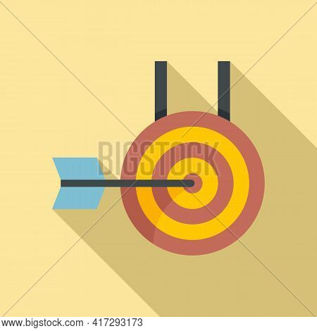 Arch Target Icon. Flat Illustration Of Arch Target Vector Icon For Web Design
