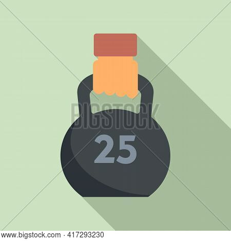 Gym Kettlebell Icon. Flat Illustration Of Gym Kettlebell Vector Icon For Web Design