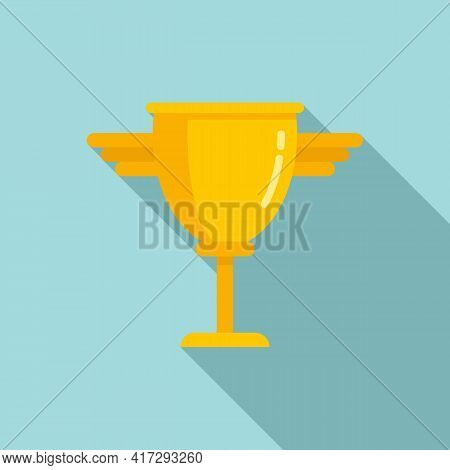Personal Trainer Cup Icon. Flat Illustration Of Personal Trainer Cup Vector Icon For Web Design