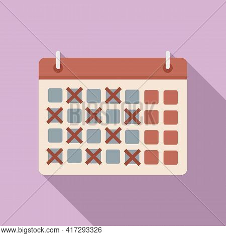 Personal Trainer Calendar Icon. Flat Illustration Of Personal Trainer Calendar Vector Icon For Web D