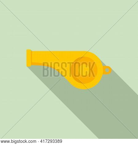Personal Trainer Whistle Icon. Flat Illustration Of Personal Trainer Whistle Vector Icon For Web Des