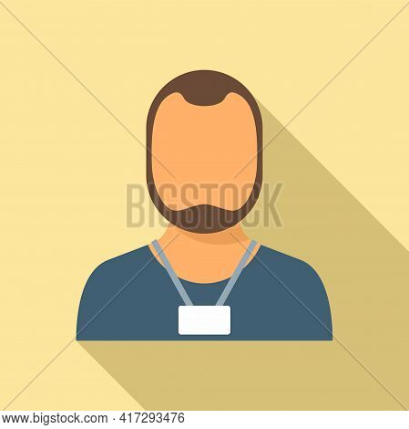 Man Personal Trainer Icon. Flat Illustration Of Man Personal Trainer Vector Icon For Web Design