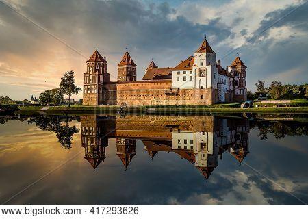 Mir Castle In Minsk Region - Historical Heritage Of Belarus. Unesco World Heritage