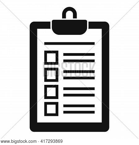 Personal Trainer Clipboard Icon. Simple Illustration Of Personal Trainer Clipboard Vector Icon For W