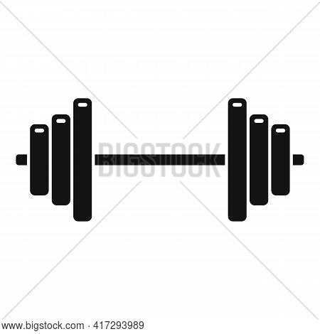 Steel Barbell Icon. Simple Illustration Of Steel Barbell Vector Icon For Web Design Isolated On Whit