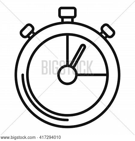 Personal Trainer Stopwatch Icon. Outline Personal Trainer Stopwatch Vector Icon For Web Design Isola