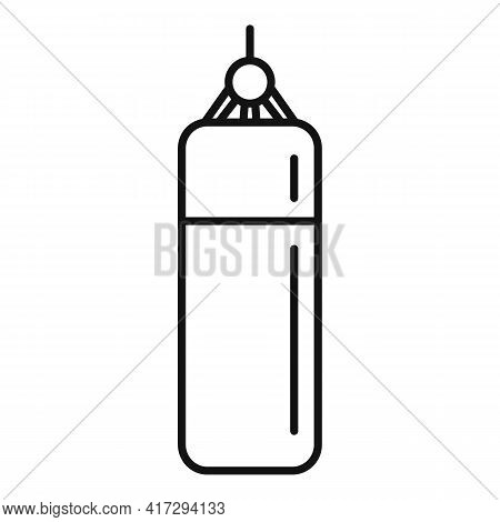 Punch Bag Icon. Outline Punch Bag Vector Icon For Web Design Isolated On White Background