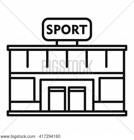 Sport Gym Building Icon. Outline Sport Gym Building Vector Icon For Web Design Isolated On White Bac