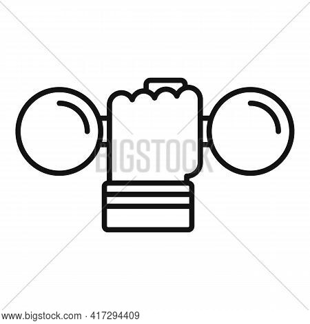 Handle Dumbbell Icon. Outline Handle Dumbbell Vector Icon For Web Design Isolated On White Backgroun