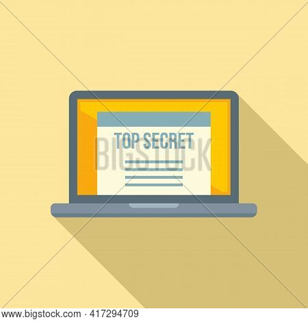 Top Secret Personal Information Icon. Flat Illustration Of Top Secret Personal Information Vector Ic