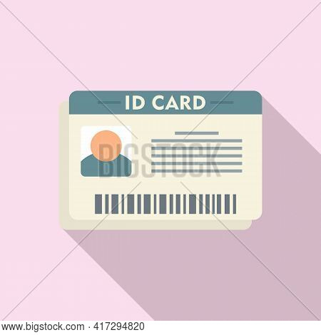 Id Card Icon. Flat Illustration Of Id Card Vector Icon For Web Design