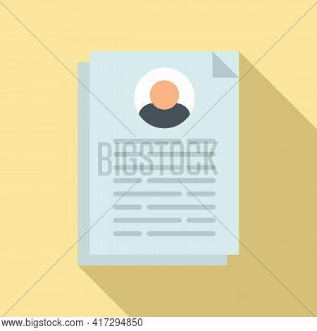 Cv Information Icon. Flat Illustration Of Cv Information Vector Icon For Web Design